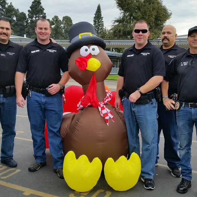 OC Grip Officers get festive during the Thanksgiving season!